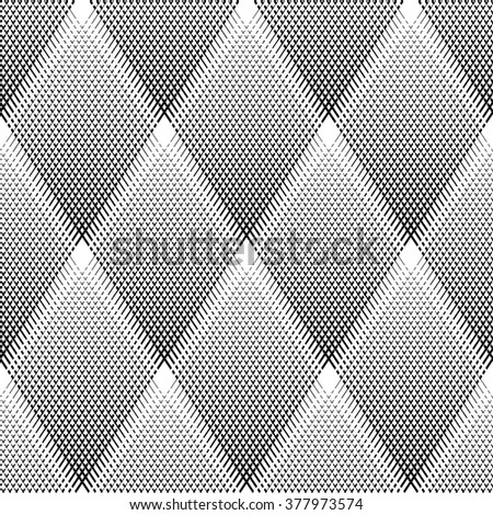 Seamless diamonds pattern. Vector art. - stock vector