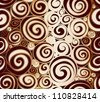Seamless doodle abstract swirls pattern. - stock vector
