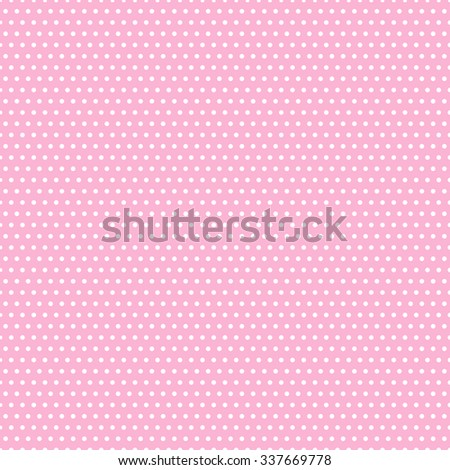 Seamless doted pattern. Polka dot pattern. Pink spotted background. - stock vector