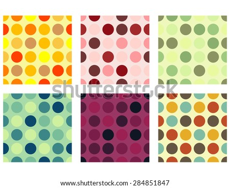 Seamless Dots Background Set
