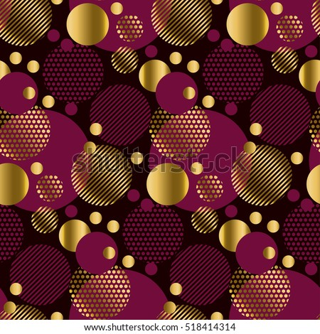 seamless dots modern luxury pattern on black background. geometry circle seamless festive amass style fabric sample. geometric pattern swatch vector illustration. Christmas Season Holiday pattern