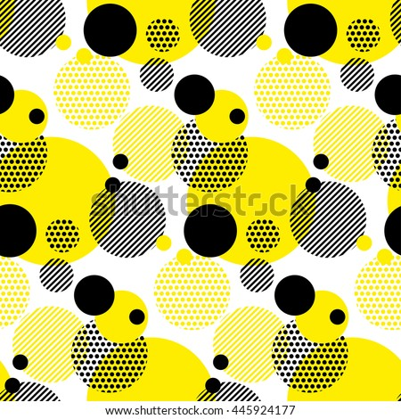 seamless dots modern pattern. white background geometry circle color seamless fabric sample. geometric pattern swatch vector illustration