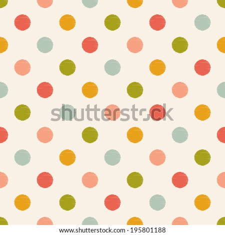seamless dots pattern - stock vector