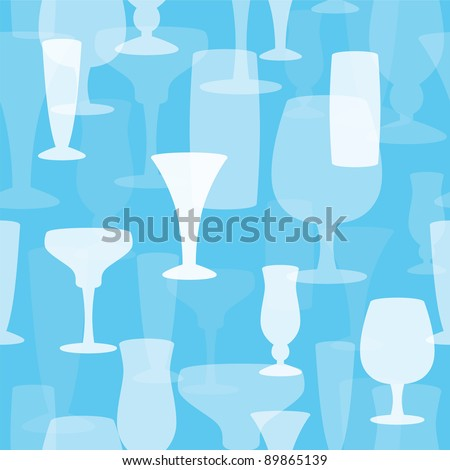 Seamless Drink Background - stock vector