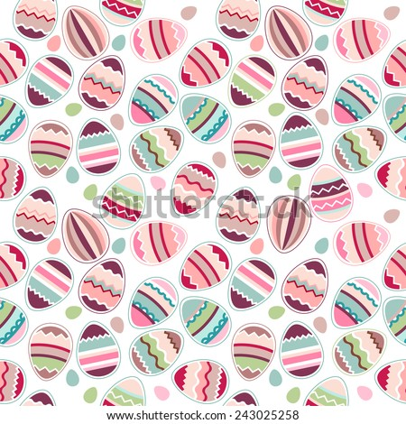 Seamless easter pattern made of stylized eggs - stock vector
