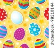 Seamless Easter topic background - vector illustration. - stock vector