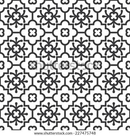 Seamless eastern pattern vector - stock vector