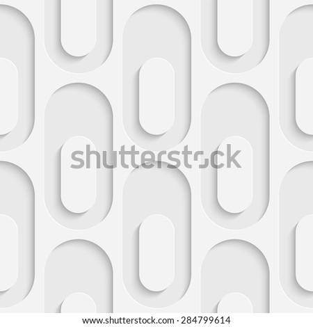 Seamless Ellipse Pattern. Vector Soft Background. Regular White Texture - stock vector