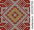 Seamless embroidered good like handmade cross-stitch ethnic pattern - stock vector