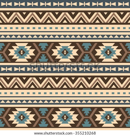seamless ethnic pattern design - stock vector