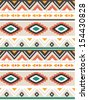 seamless ethnic vector pattern background - stock vector