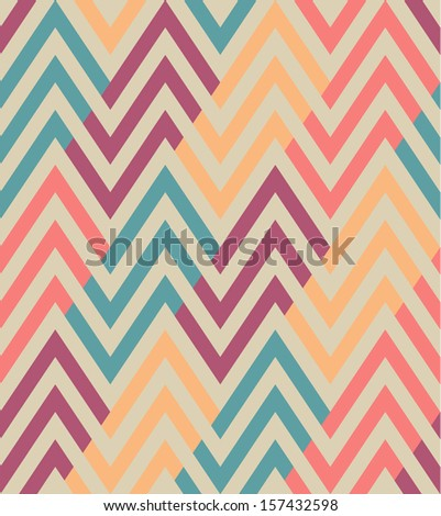 Seamless ethnic zigzag pattern - stock vector