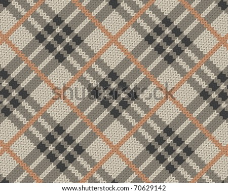 Seamless fabric pattern background. Vector illustration. - stock vector