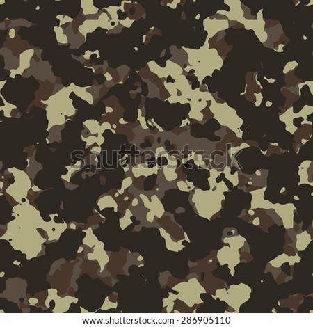Seamless fashion dark brown vintage camouflage pattern vector - stock vector