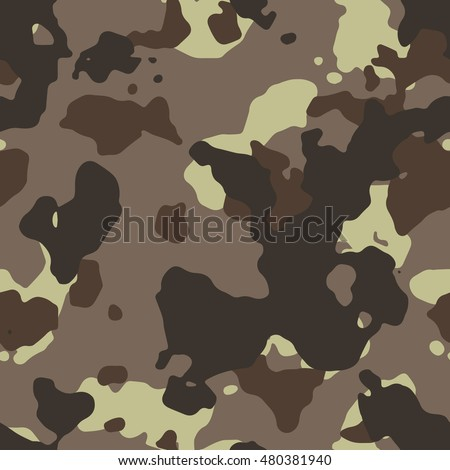Seamless Fashion Desert Brown Camouflage Military Pattern Vector