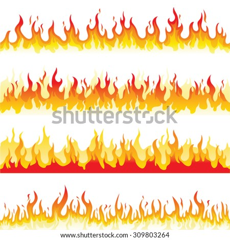 Seamless Fire Flame - stock vector