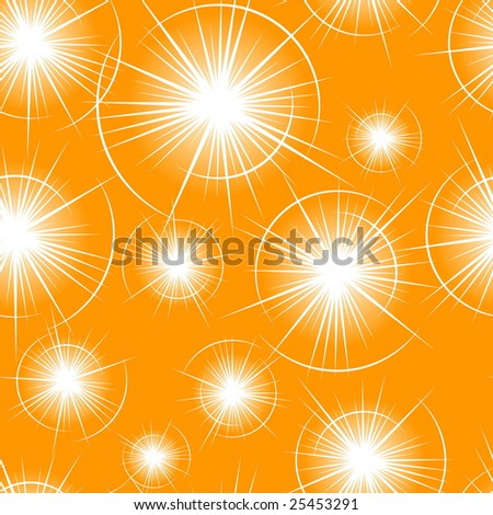 Seamless Flare Pattern - stock vector