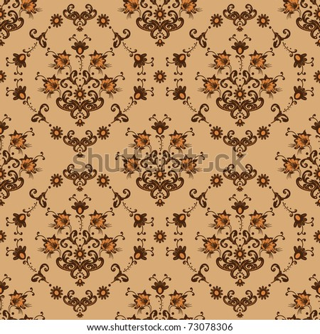 Seamless floral abstract background. Vector illustration. - stock vector