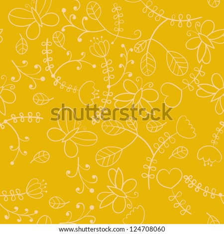 Seamless floral background.  Can be used for wallpaper, pattern fills, web page, surface, fabric