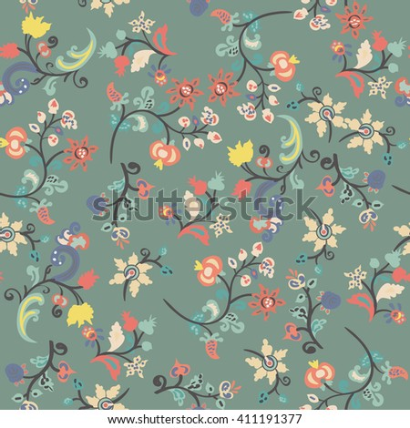 Seamless floral background. Romantic design with floral pattern.