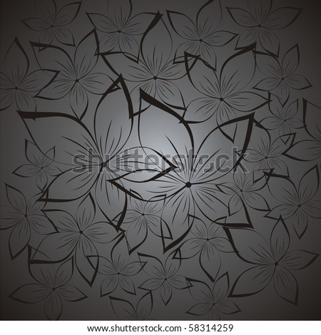 Seamless floral background. Vector - stock vector