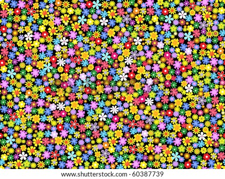 seamless  floral background.vector illustration - stock vector