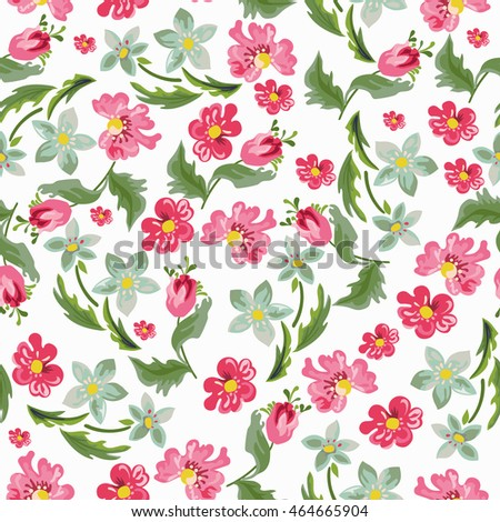Seamless floral background.Wallpaper seamless vintage flower pattern