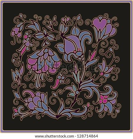 Batik flower Stock Photos, Illustrations, and Vector Art