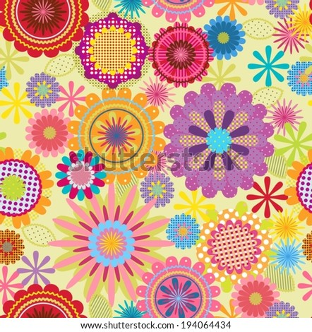 seamless floral decorative background