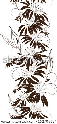Seamless floral design, bunch of flowers, vector illustration - stock vector