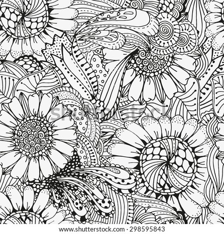 Sunflower Pattern Stock Images Royalty Free Images