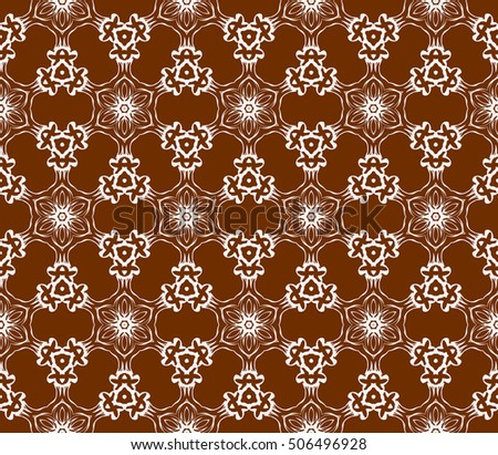 seamless floral geometric patterns. brown color. Texture for holiday cards, Valentines day, wedding invitations, design wallpaper, pattern fills, web page, banner, flyer. Vector illustration.