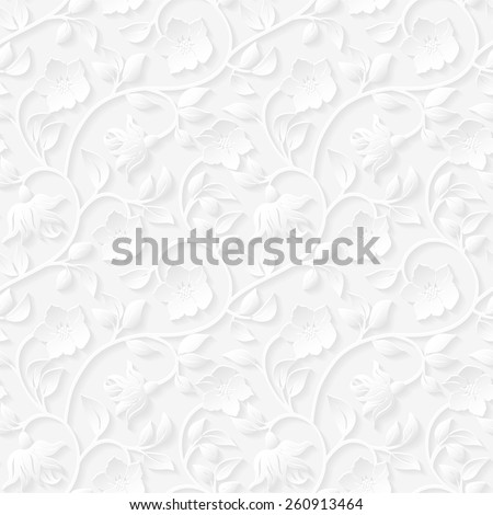 Seamless floral ornamental pattern. - stock vector
