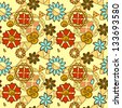 seamless floral pattern - stock photo
