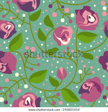 Seamless floral pattern - stock vector
