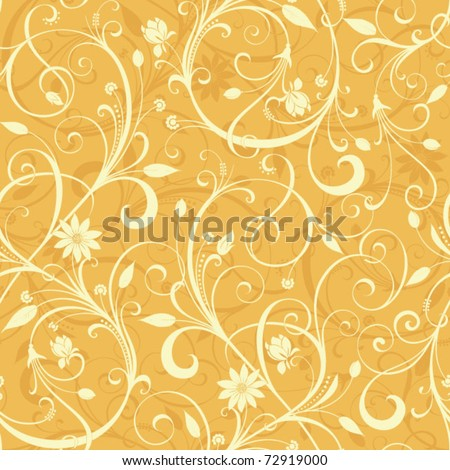 Seamless Floral Pattern 2 - stock vector