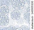 Seamless floral pattern. Background with flowers. Vector illustration - stock vector