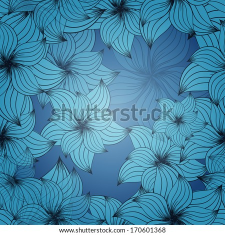 Seamless floral pattern. Background with flowers. Vector illustration