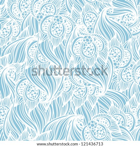 Seamless floral pattern  Classic wallpaper background