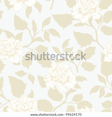 Seamless floral pattern. Classic wallpaper background - stock vector