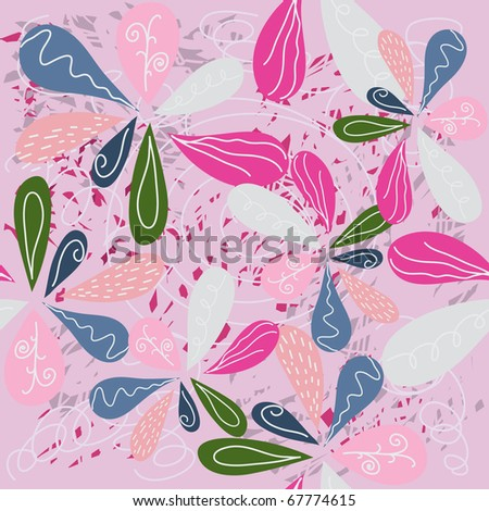 seamless floral pattern. colorful background - stock vector