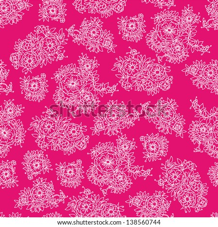 Seamless floral pattern.Endless texture with flowers.