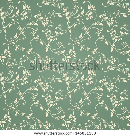 seamless floral pattern. eps10 - stock vector