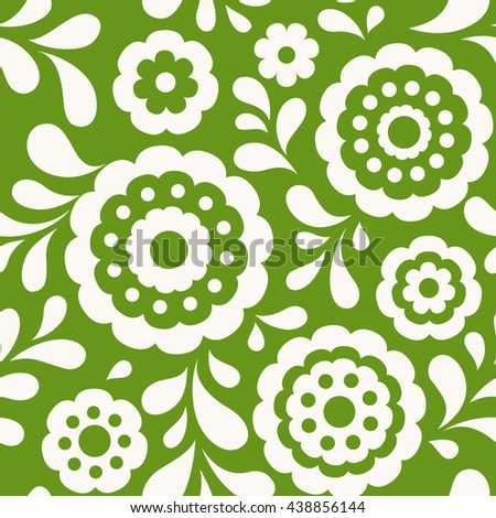 Seamless floral pattern. Ethnic background with abstract flowers.   - stock vector