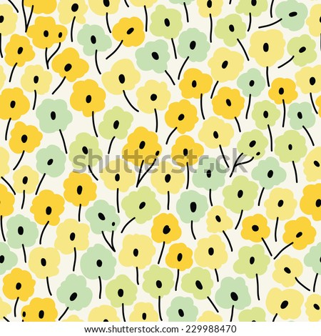 Seamless floral pattern. Flowers texture. - stock vector