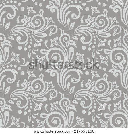 Seamless floral pattern for design, vector Illustration - stock vector