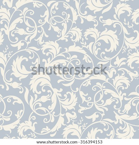 seamless floral pattern in blue