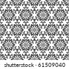 Seamless floral pattern in two colors - stock vector