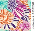 Seamless floral pattern on a light background - stock