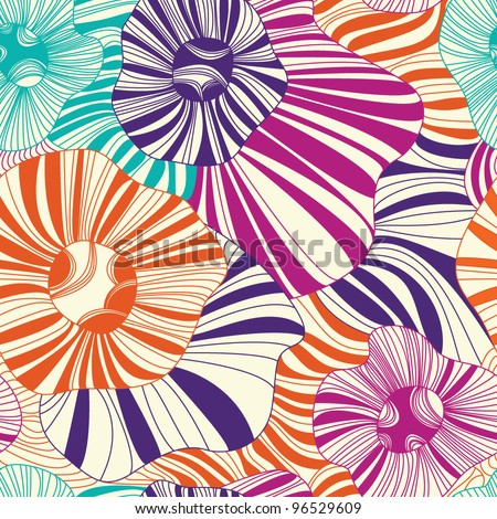 Seamless floral pattern on a light background - stock vector